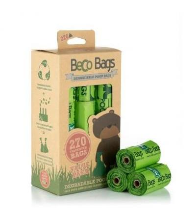 UNSCENTED DEGRADABLE POOP 270 BAGS