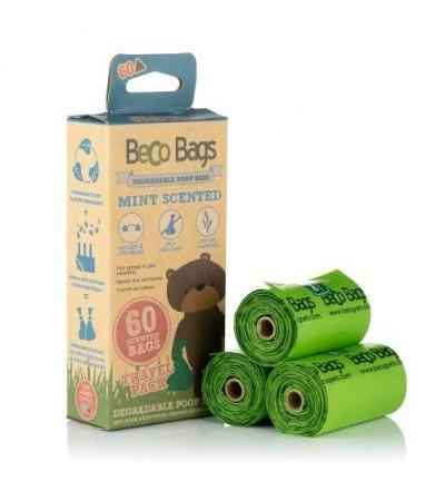 MINT SCENTED DEGRADABLE POOP 60 BAGS