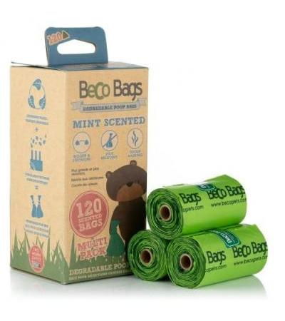 MINT SCENTED DEGRADABLE POOP 120 BAGS