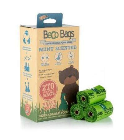 MINT SCENTED DEGRADABLE POOP 270 BAGS