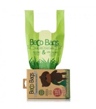 UNSCENTED DEGRADABLE HANDLE POOP 120 BAGS