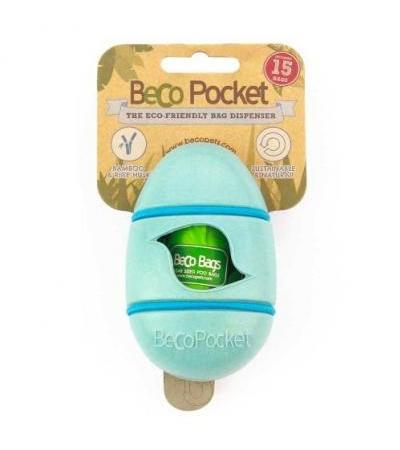 BAMBOO POCKET POOP BAG DISPENSER Blue