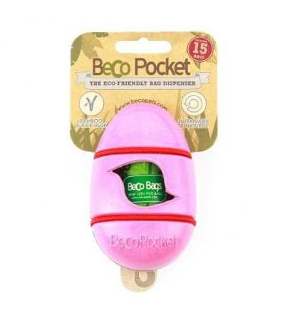 BAMBOO POCKET POOP BAG DISPENSER Pink