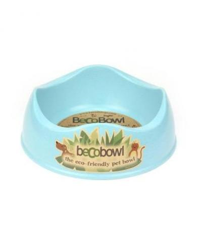 BAMBOO DOG BOWL L Blue