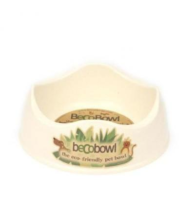 BAMBOO DOG BOWL L Beige