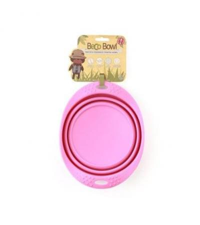 Collapsible Travel Bowl L Pink