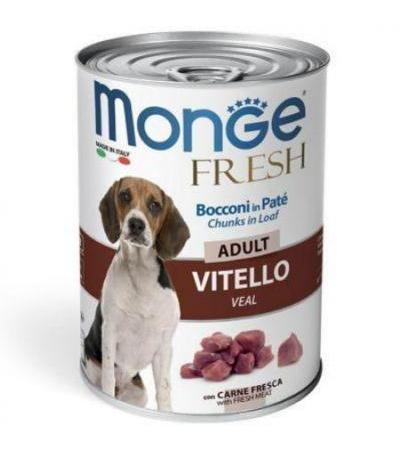 MONGE FRESH CANE ADULTO UMIDO 400 GR.BOCCONI IN PATE' VITELLO
